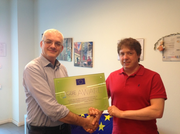 La targa GBE: Ecorex ed Energol si stringono la mano
